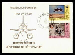 DR WHO 1981 IVORY COAST FDC SPACE SHUTTLE CACHET COMBO  g00213