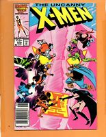 THE UNCANNY X-MEN #208 Newsstand Hellfire Club Wolverine VF+ to VF/NM