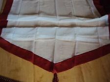 1 Raffrollo Faltrollo Schlaufen weiß rot für Stange B/H 120 x 170 cm