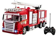 """RC Fire Truck Remote Control 12"""" Kids Toy W/ RechargeableBattery Firetruck 56SA"""