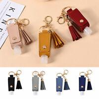 Unisex Tassel Key Ring Faux Leather Bag Case Bottle Keychain Charm Bag Pendant