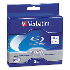 Verbatim Blu-Ray BD-R Dual-Layer 50 GB 3/Pk 97237