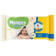 3 Pieces Huggies Unistar Wipes Infant Newborn 56 Piece Cad. Wipes