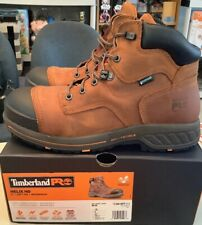 """Timberland Pro Helix HD 6"""" Soft Toe Red Brown Leather WP Work Boots Mens Size 10"""