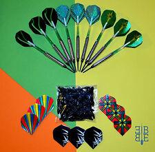 9 Soft - Dart - Pfeile * Green Power * + Zubehör 16 g