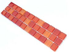 Bordüren 29,7x7,3cm Mosaik Border Bad Bordüre Glasbordüre QH1070 orange rot mix