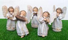 LES ALPES 006 434155-SERIE DI 5 ANGELI IN RESINA-ALI MORBIDE-CM. 10