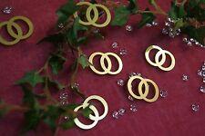 Tischdekoration Deko Hochzeit Acryl Trauringe Eheringe 12St gold