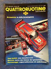 RIVISTA QUATTRORUOTINE N.180 1993 MODELLISMO ALFA ROMEO MERCEDES BUGATTI FERRARI