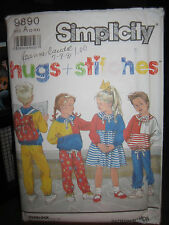 Vintage Simplicity #9890 Kid's Pants, Dress, Top & Backpack Pattern - Sizes 2-6X