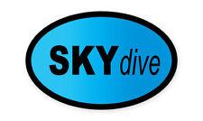 "Skydive Oval car window bumper sticker decal 5"" x 3"""