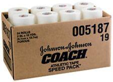 "J&J Coach 2"" x15yd Athletic Tape Johnson & Johnson Sports Tape 24/cs"