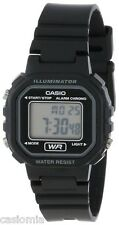 Casio LA20WH-1A Ladies Petit Square Black Digital Sports Watch w/ LED Light