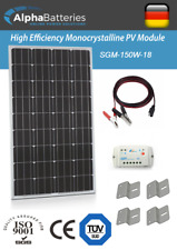12V 150W Xplorer German Cell Solar Panel Kit | Caravan | Boat | Motorhome
