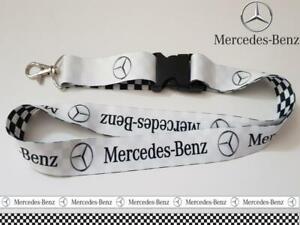Mercedes Lanyard Neck Strap for Keys ID Card Holder SiZe Width 25mm Length 55cm