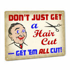 Hair Cut Joke SIGN Funny Vintage Stylist Barber Shop Humor Retro Wall Plaque 130