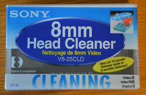 SONY 8mm HEAD CLEANER Cleaning V8-25CLD Video8 Digital8 NEU in Folie SEALED