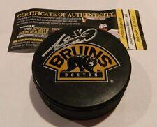 Adam McQuaid Boston Bruins Bear Signed Autographed Puck w/ COA Auto