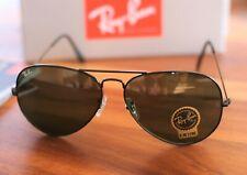 RB 3026 Ray Ban Black Aviator Sunglasses 62mm L2821 100% UV Protection
