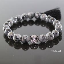 Herren Edelstein Tiger Perlen Armband Rutilquarz Beads ,Männer Shamballa