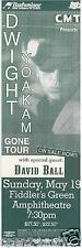 "DWIGHT YOAKAM / DAVID BALL 1996 ""GONE TOUR"" DENVER CONCERT POSTER"