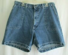 Wrangler Size 12 Blue Button Back Pockets Mom Jean High Waist Shorts