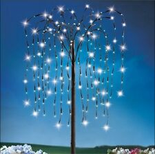 Yard Lighted Tree 4FT Decoration Outdoor Solar Willow Garden Lighting Ornaments