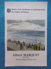 MARQUET Albert Affiche Les Sables d'Olonne Marine Plage Tempête Bordeaux