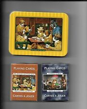 Sealed Decks Of Dogs Playing Cards W/Tin