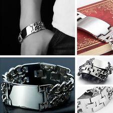 """Bracelet Stainless Steel Bangle 8.66"""" Heavy Cool Mens&Boys Roker Biker Chain"""