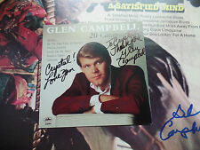 GLEN CAMPBELL auto hand signed autograph CD cover only LOTS of his WRITING!!