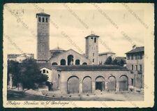 Milano Città Basilica Sant'Ambrogio PIEGHINA FG cartolina VK2530