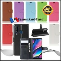 Coque Etui Housse Litchi Cuir PU Leather Stand Wallet Case Cover Wiko View 3