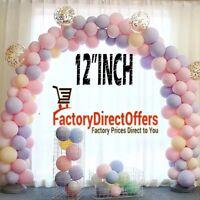 "12"" Macaron Candy Pastel Latex WHOLESALE Balloon Wedding Party Decor Birthday"