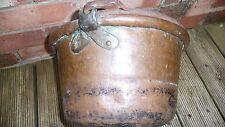 Antico da Collezione Raro Solid Copper GRANDE PENTOLA PAIOLO DALL'ITALIA