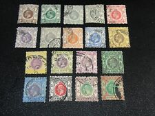 HONG KONG 1921 Sc#129-46 King George V Definitives Complete Set Postal Used
