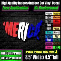 Merica Fat Guy Mud Flap Vinyl Decal Sticker Window Truck USA America Military