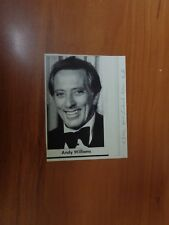 Vtg Wire Press Photo Singer Andy Williams Love Story Alone Again Lonely Street 1