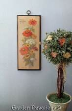 Vintage 70's Floral Wall Plaque Great is the Lord Our God Robert Laessig Ana