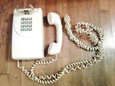 Vintage Beige ITT Push Button Wall Phone w/ Manual Ringer Adjustment, Untested
