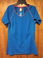 Danskin Now Semi Fitted Women's Size S Blue Workout Exercise Shirt Top