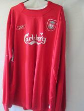 Liverpool 2002-2004 Home Football Shirt Talla Xxl / 13864 Manga Larga