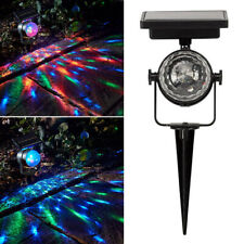 BP_ AM_ SN_ SOLAR ROTATING LED PROJECTION GARDEN LAWN LAMP OUTDOOR COLORFUL RGB