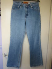 039) Womens Vintage Levis SILVER TAB FLARE Straight Leg Zip Fly Size 8 M Leg 30