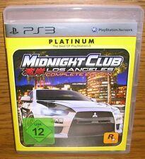PS3 Midnight Club Los Angeles Age 12 Blu-Ray Disc