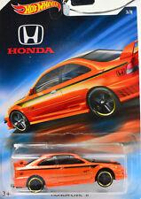 Honda Civic Si Orange Scale 1:64 Car Model from Howheels