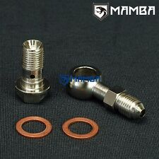 Banjo Bolt Kit 4AN to M12x1.25 Turbo oil Feed For Factory 1.0mm Restrictor