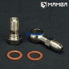 MAMBA Turbo Oil Feed Banjo Bolt kit For Nissan RB25DET T3 M12x1.25mm -4AN