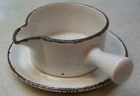 MIDWINTER  STONEHENGE  CREATION   GRAVY / SAUCE BOAT  w / UNDERPLATE  ENGLAND