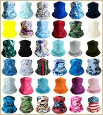 Elastic Tube Bandana Face Mask Fashion Cover Multi-Use Silky Scarf Wrap Covering